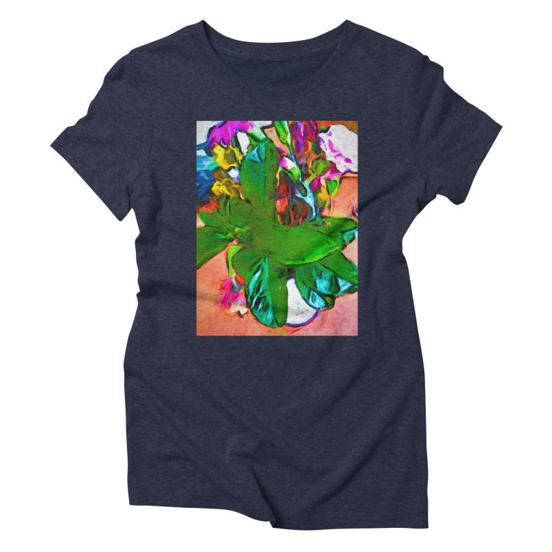 Vase with Plant Women's Triblend T-Shirt by jackievano's Artist Shop