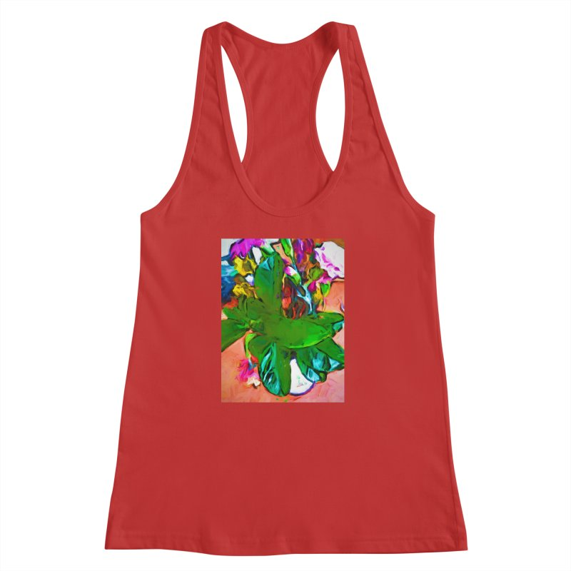 Vase with Plant Women's Racerback Tank by jackievano's Artist Shop