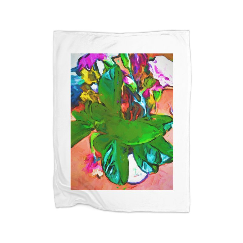 Vase with Plant Home Blanket by jackievano's Artist Shop