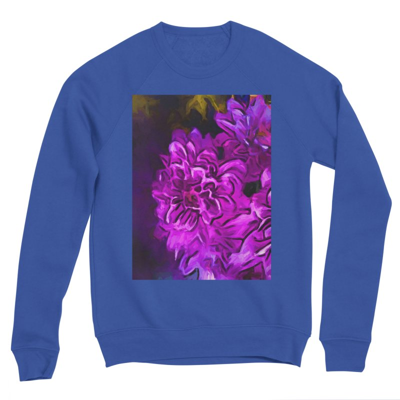 Purple Flower with Pink Petals Women's Sponge Fleece Sweatshirt by jackievano's Artist Shop