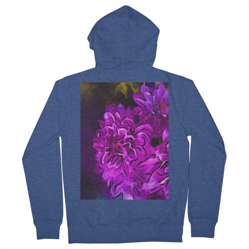 Purple Flower with Pink Petals Women's French Terry Zip-Up Hoody by jackievano's Artist Shop