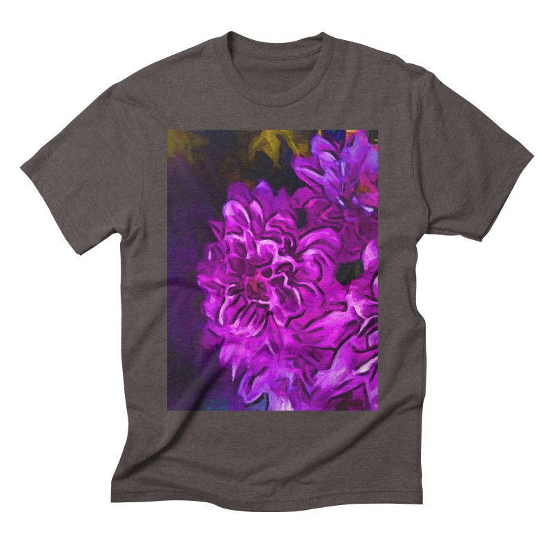 Purple Flower with Pink Petals Men's Triblend T-Shirt by jackievano's Artist Shop