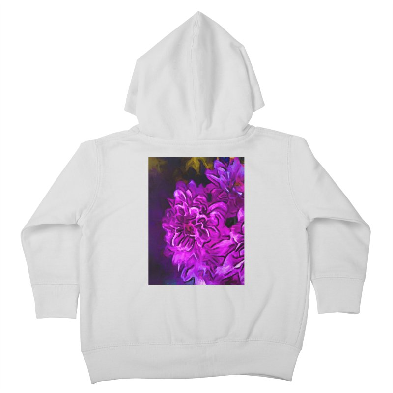 Purple Flower with Pink Petals Kids Toddler Zip-Up Hoody by jackievano's Artist Shop