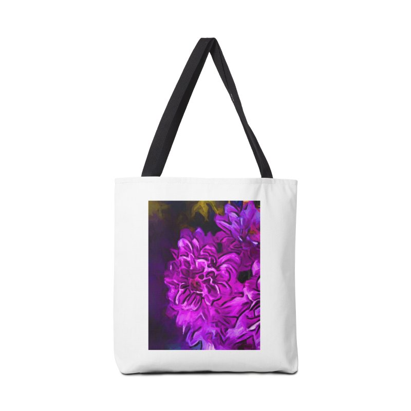 Purple Flower with Pink Petals Accessories Bag by jackievano's Artist Shop