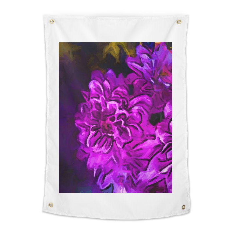 Purple Flower with Pink Petals Home Tapestry by jackievano's Artist Shop