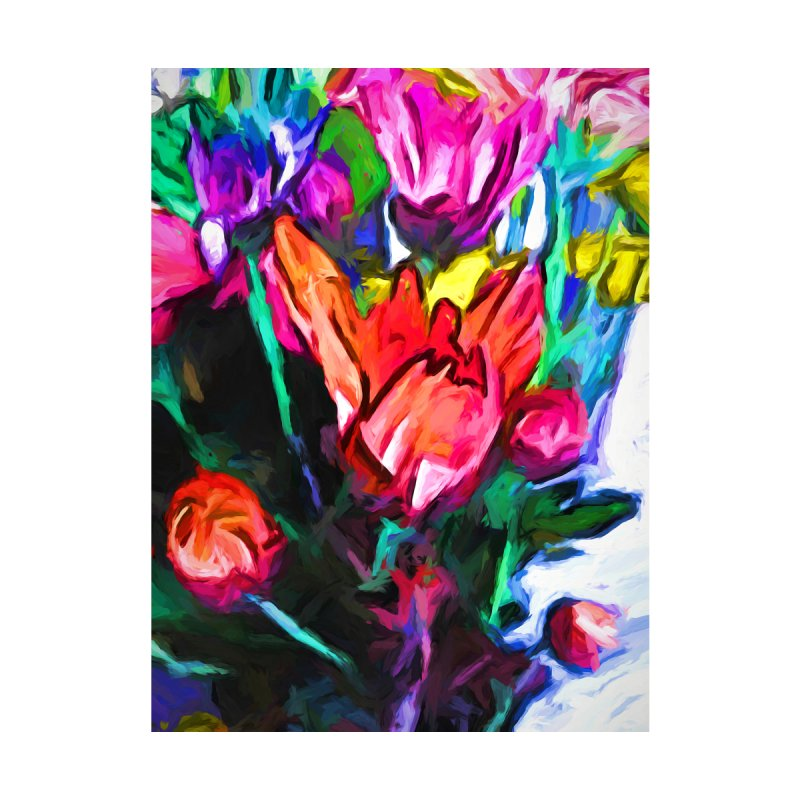 Red Flower in Rainbow Bouquet by jackievano's Artist Shop