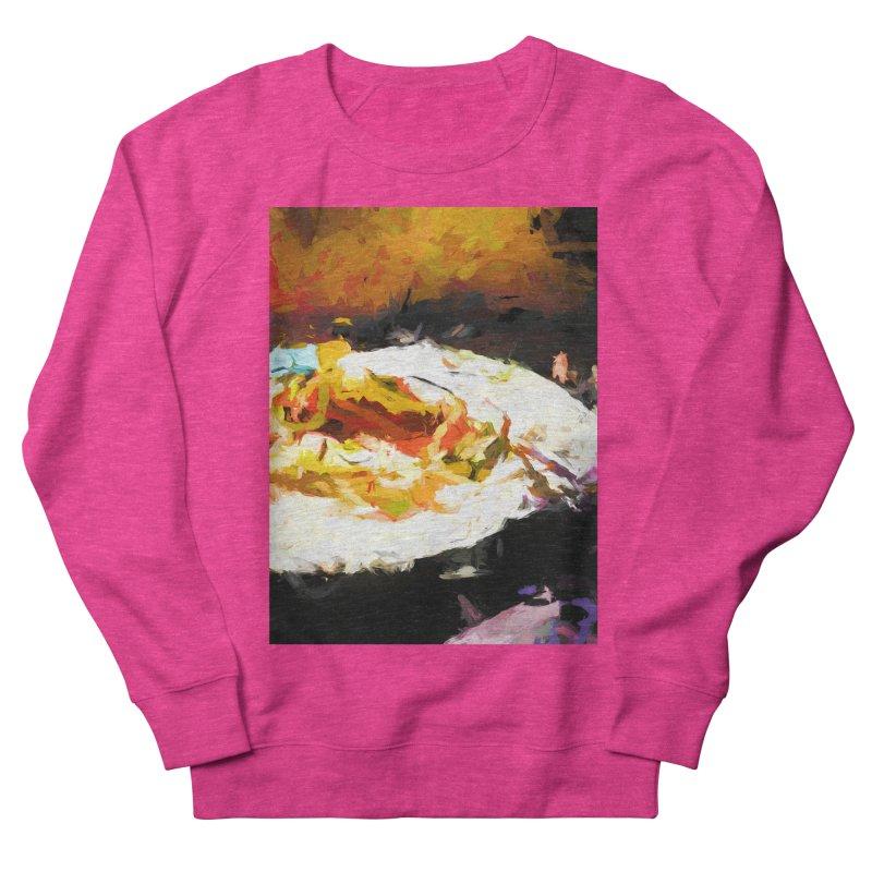 Crumbed Chicken Sandwich Men's French Terry Sweatshirt by jackievano's Artist Shop