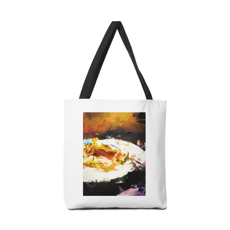 Crumbed Chicken Sandwich Accessories Bag by jackievano's Artist Shop