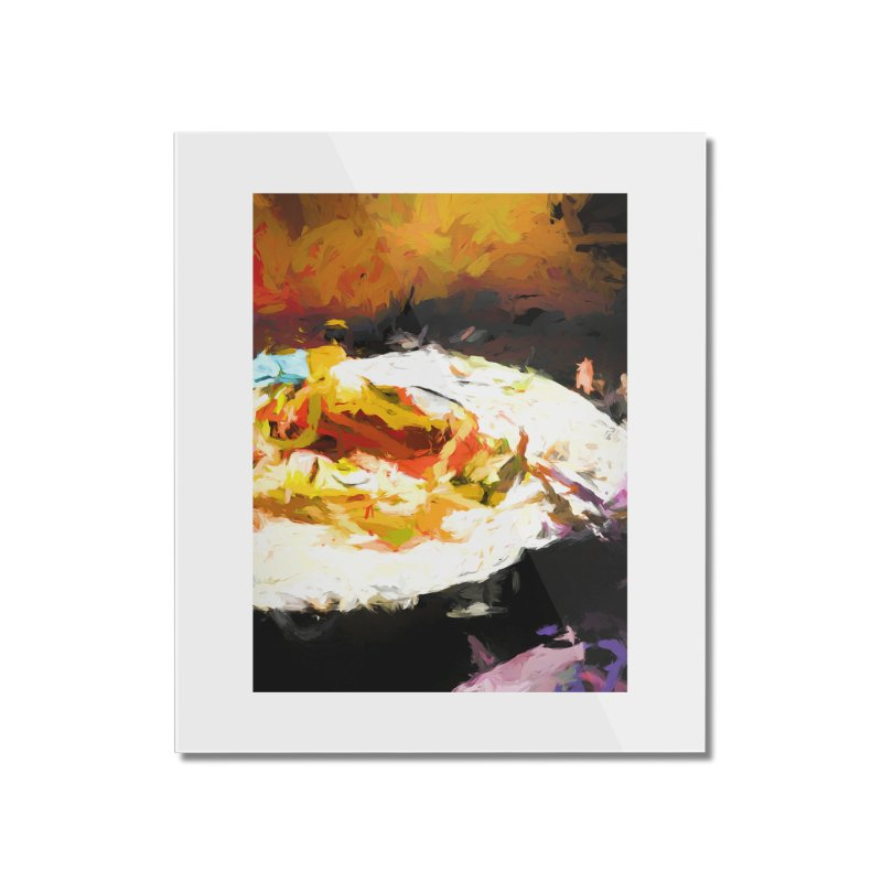Crumbed Chicken Sandwich Home Mounted Acrylic Print by jackievano's Artist Shop