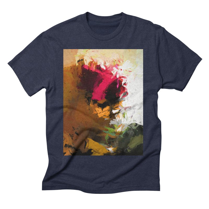 Crocodile Seven Roses Men's Triblend T-Shirt by jackievano's Artist Shop