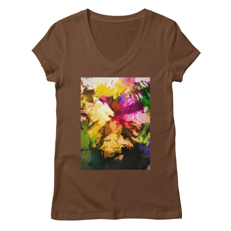 Love Rainbow Rhapsody Women's Regular V-Neck by jackievano's Artist Shop