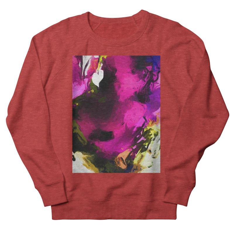 Love Heart Rose Men's French Terry Sweatshirt by jackievano's Artist Shop