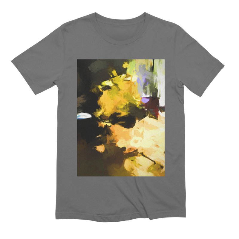 Yellow Square Scoop Men's Extra Soft T-Shirt by jackievano's Artist Shop