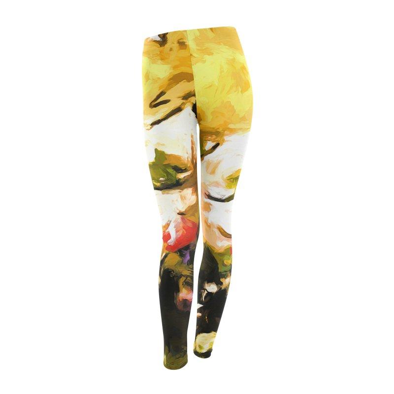 White Flower Eye Women's Leggings Bottoms by jackievano's Artist Shop