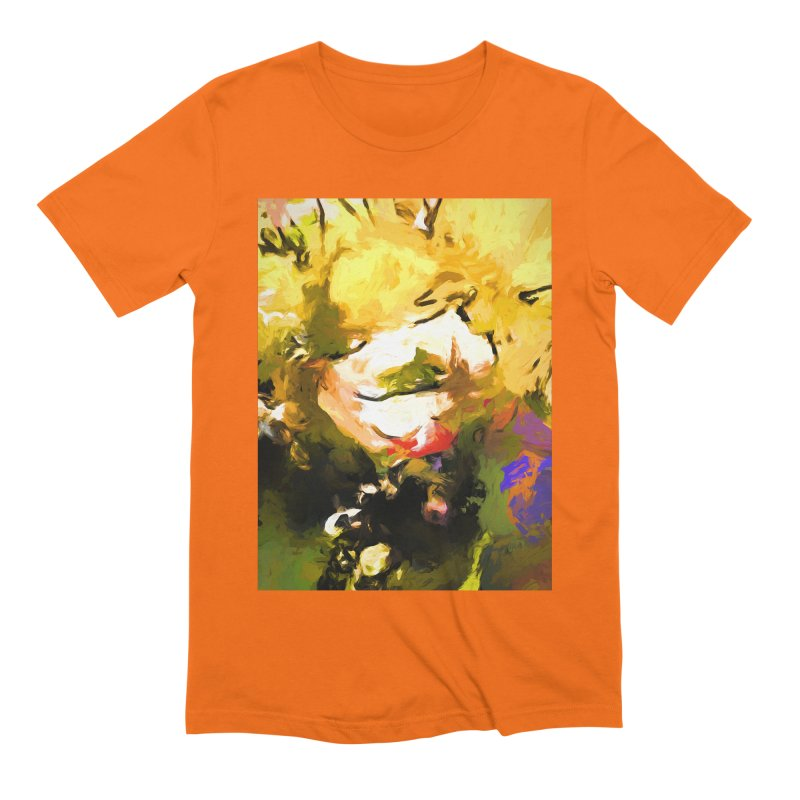 White Flower Eye Men's Extra Soft T-Shirt by jackievano's Artist Shop