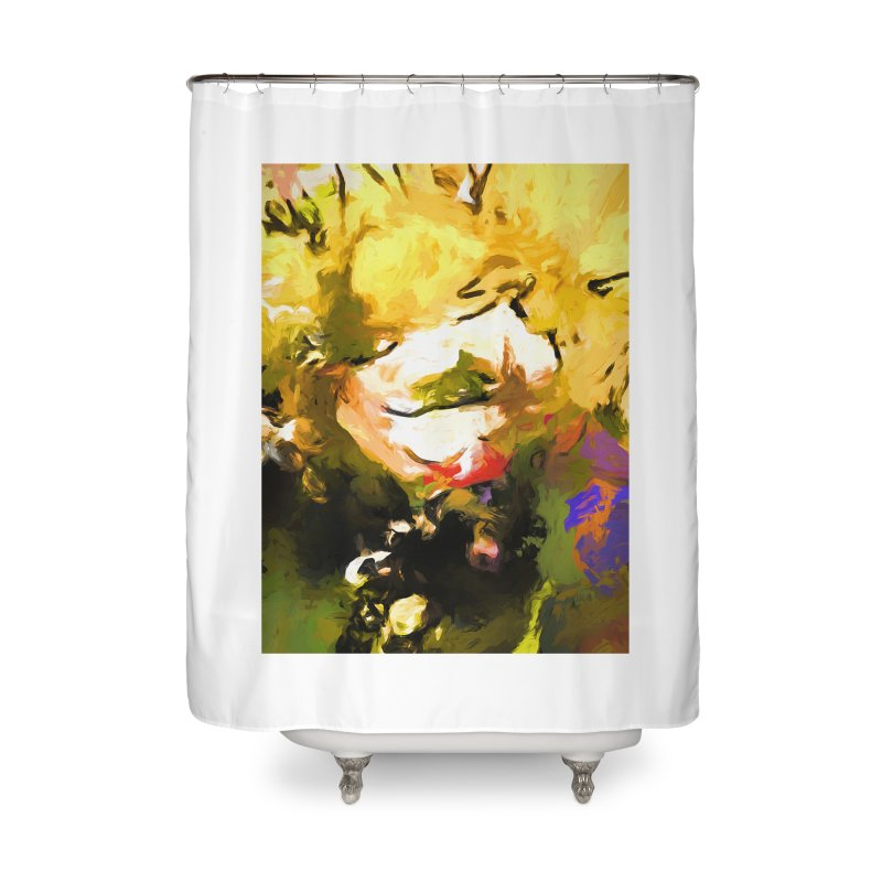 White Flower Eye Home Shower Curtain by jackievano's Artist Shop