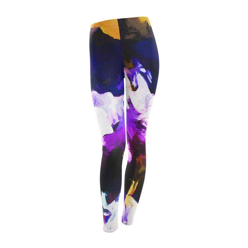 Jellyfish Lavender Flower Women's Leggings Bottoms by jackievano's Artist Shop