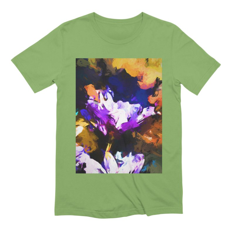 Jellyfish Lavender Flower Men's Extra Soft T-Shirt by jackievano's Artist Shop