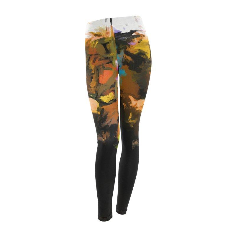 Pineapple Lime Pink Women's Leggings Bottoms by jackievano's Artist Shop