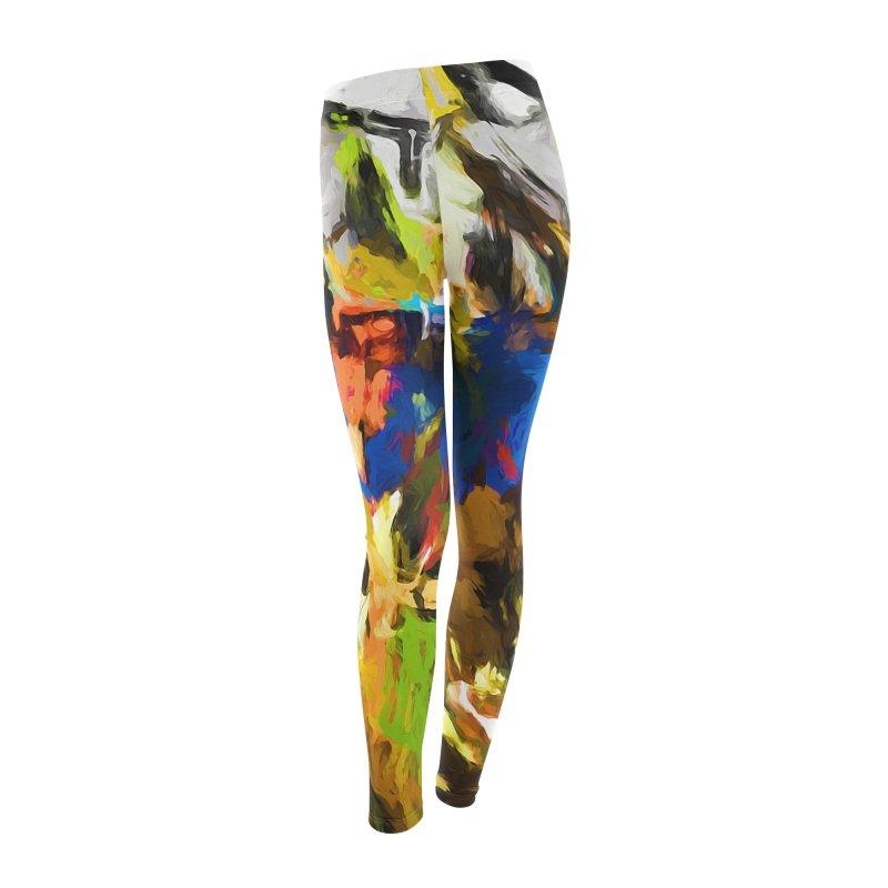 Blue Orange Green Women's Leggings Bottoms by jackievano's Artist Shop
