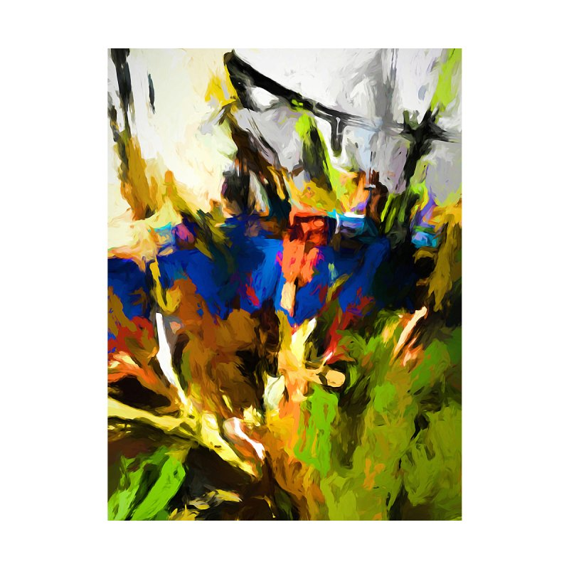 Blue Orange Green Men's T-Shirt by jackievano's Artist Shop