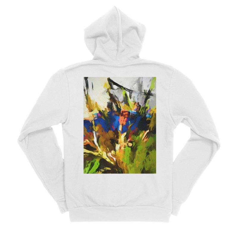 Blue Orange Green Women's Sponge Fleece Zip-Up Hoody by jackievano's Artist Shop