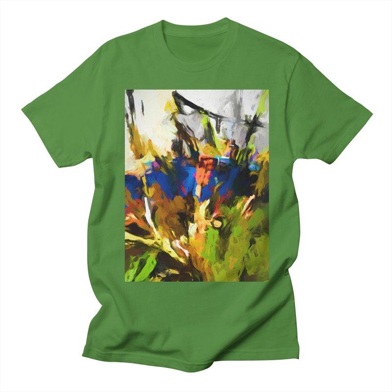 Blue Orange Green Men's Regular T-Shirt by jackievano's Artist Shop