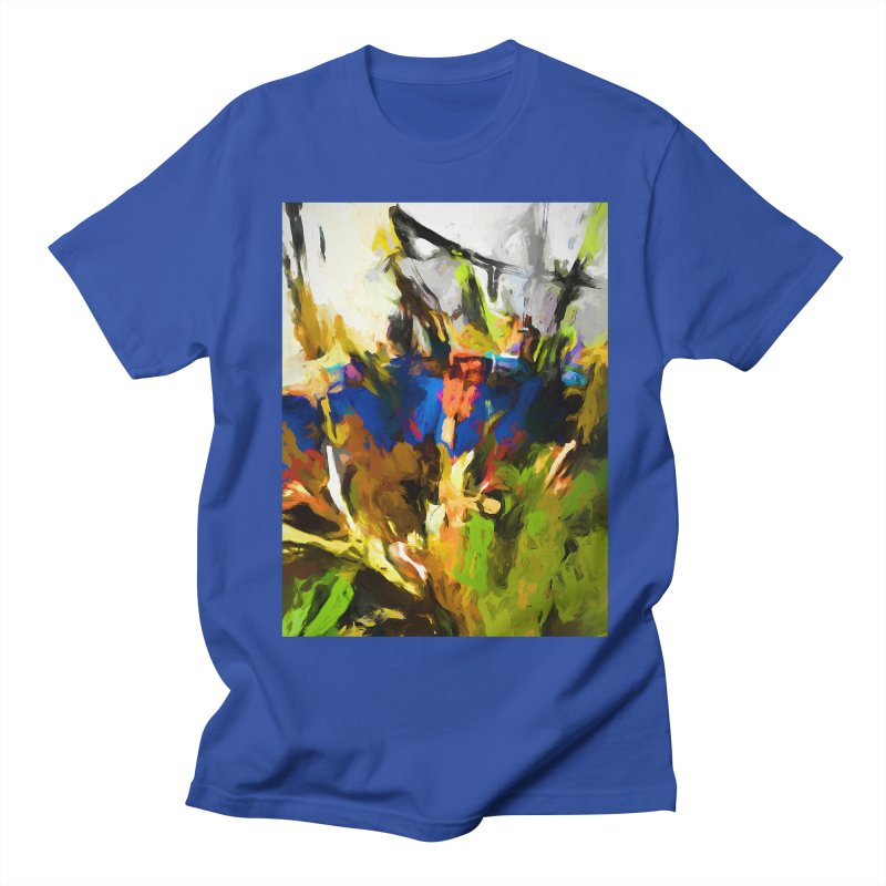Blue Orange Green Women's Regular Unisex T-Shirt by jackievano's Artist Shop