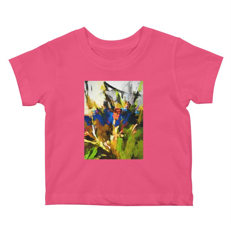 Blue Orange Green Kids Baby T-Shirt by jackievano's Artist Shop