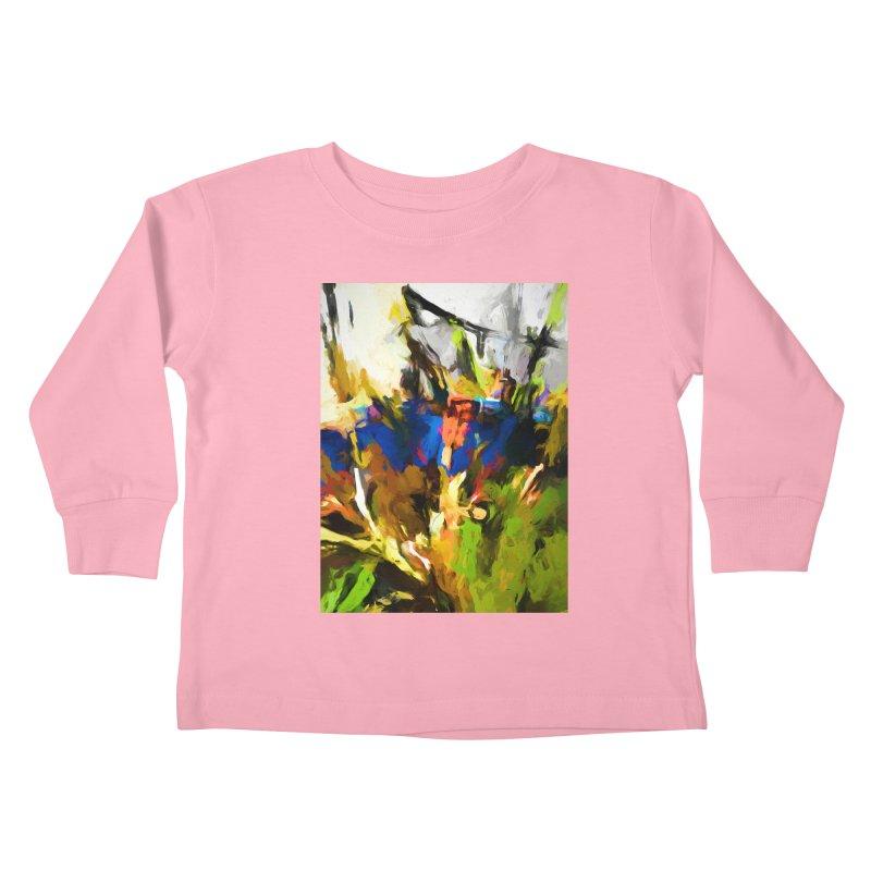 Blue Orange Green Kids Toddler Longsleeve T-Shirt by jackievano's Artist Shop