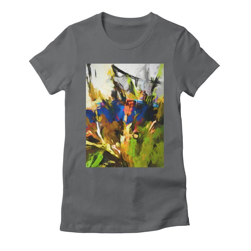 Blue Orange Green Women's Fitted T-Shirt by jackievano's Artist Shop