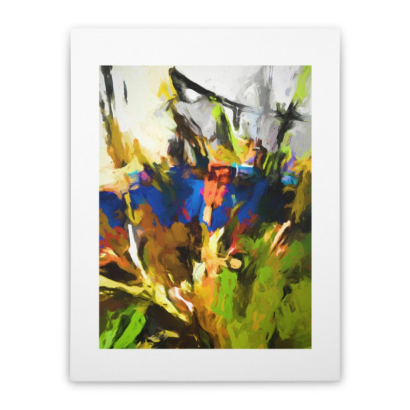 Blue Orange Green Home Stretched Canvas by jackievano's Artist Shop