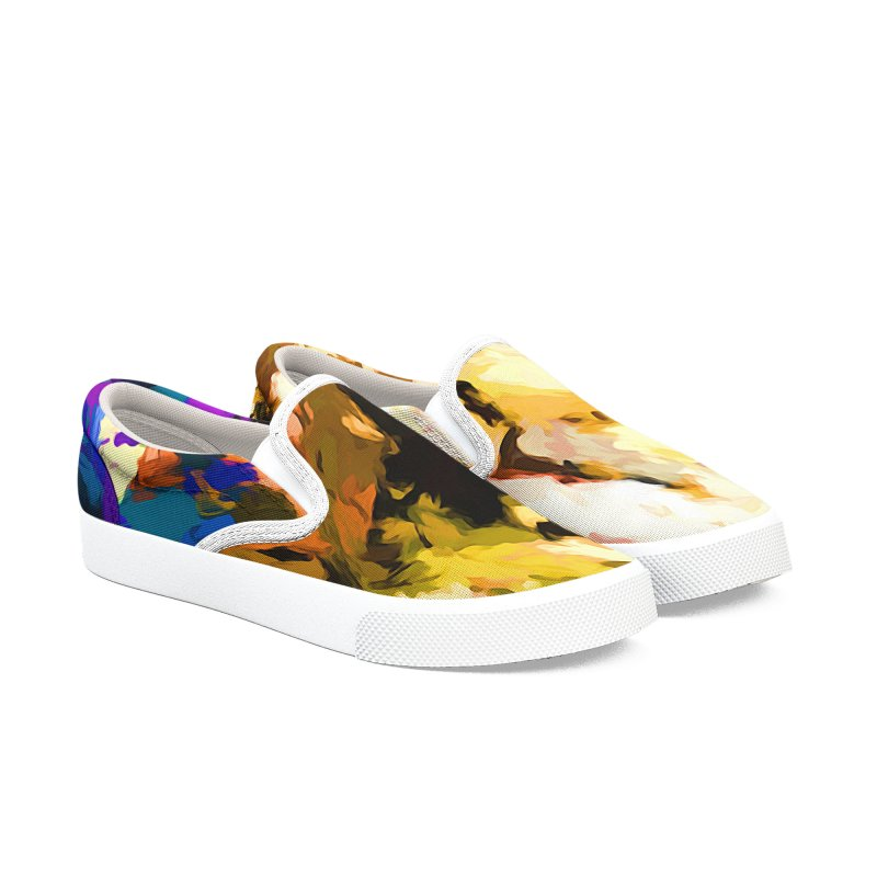 Screaming Man in the Abyss Men's Slip-On Shoes by jackievano's Artist Shop