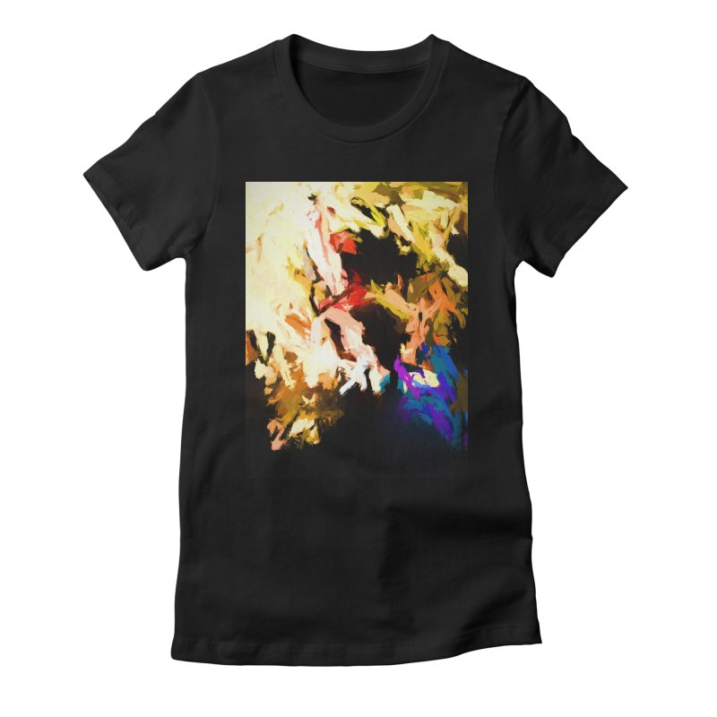 Screaming Man in the Abyss Women's Fitted T-Shirt by jackievano's Artist Shop