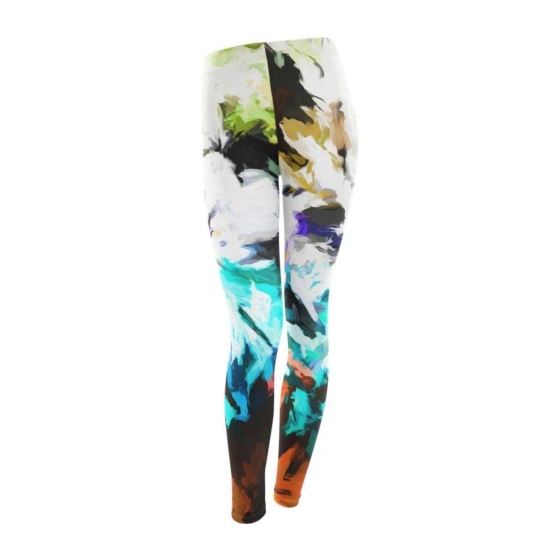 Green Windowsill in a Room Women's Leggings Bottoms by jackievano's Artist Shop