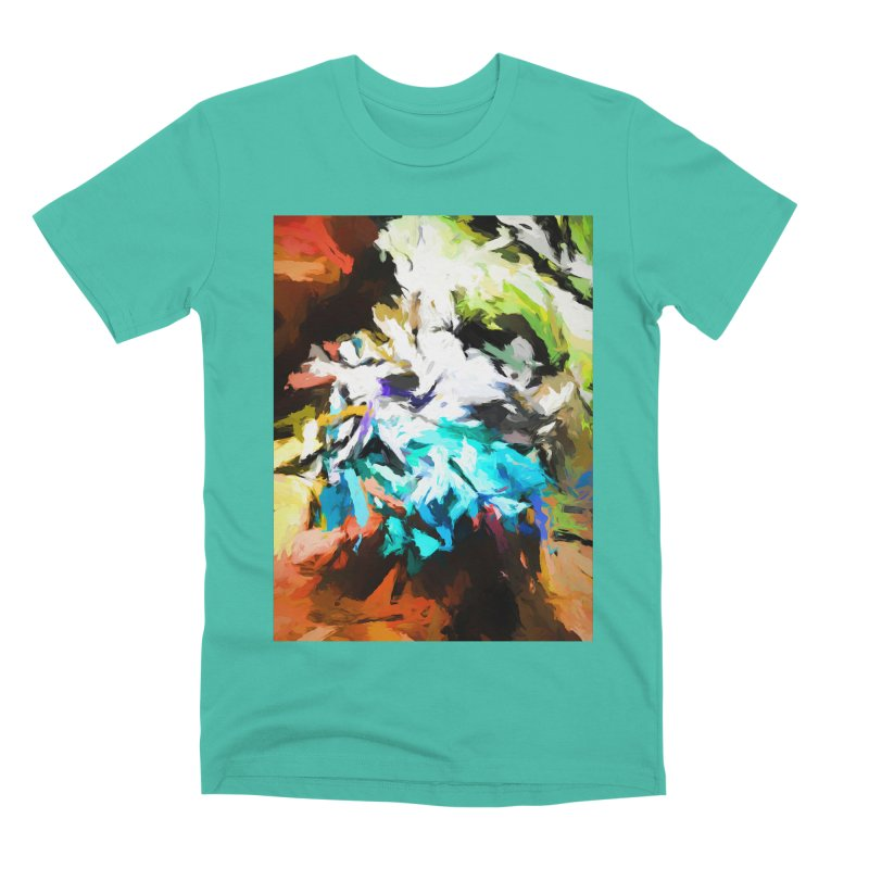 Green Windowsill in a Room Men's Premium T-Shirt by jackievano's Artist Shop
