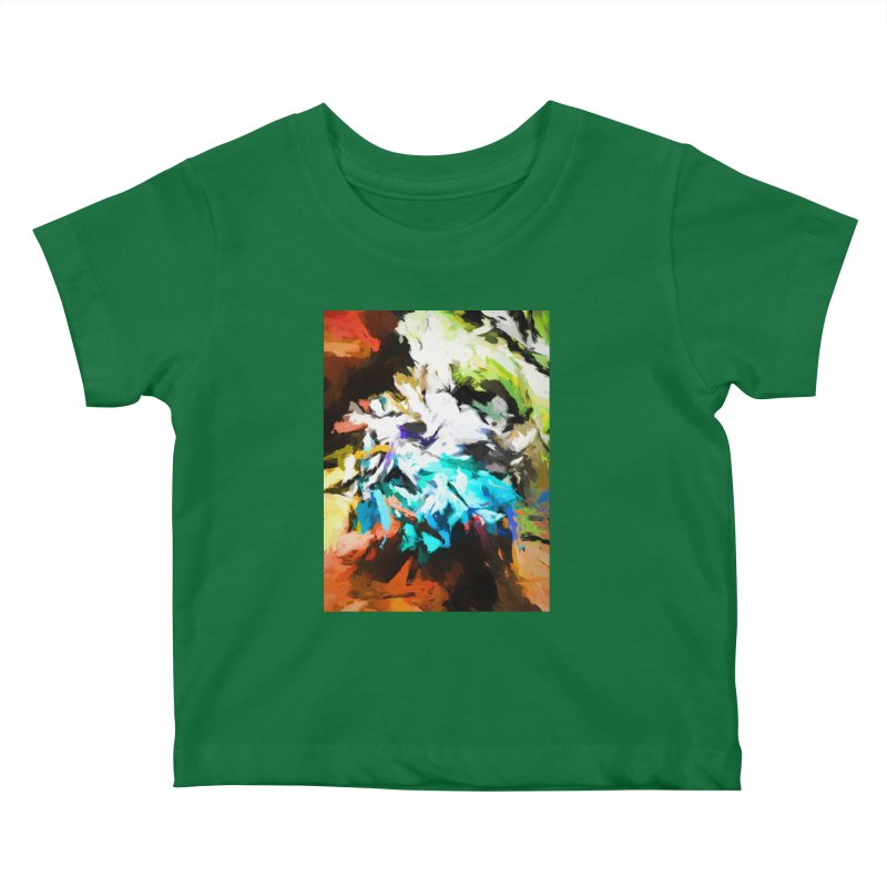 Green Windowsill in a Room Kids Baby T-Shirt by jackievano's Artist Shop