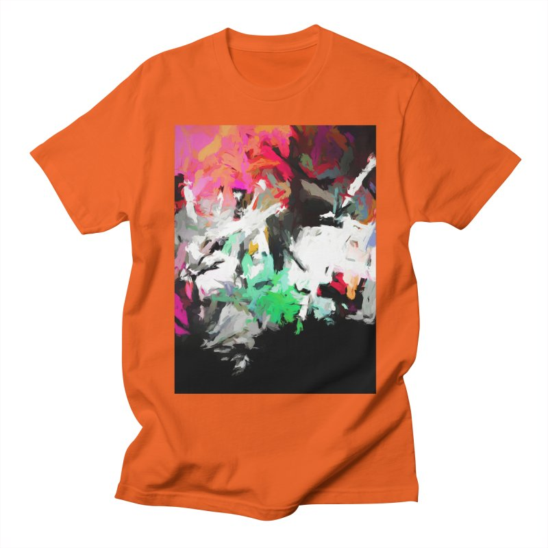 Square Moon in a Pink Sky Men's Regular T-Shirt by jackievano's Artist Shop