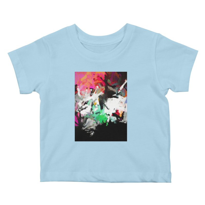 Square Moon in a Pink Sky Kids Baby T-Shirt by jackievano's Artist Shop