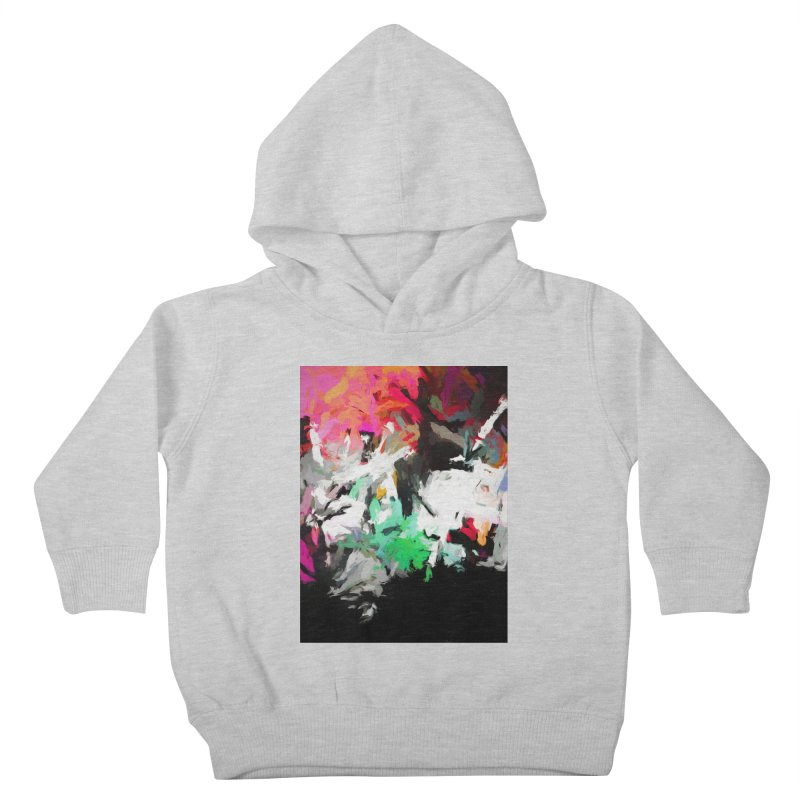 Square Moon in a Pink Sky Kids Toddler Pullover Hoody by jackievano's Artist Shop