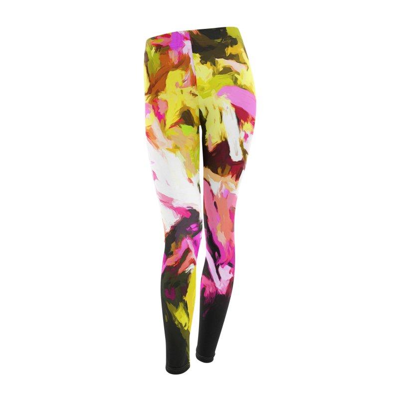 Pink Triangle in a Canola Field Women's Leggings Bottoms by jackievano's Artist Shop