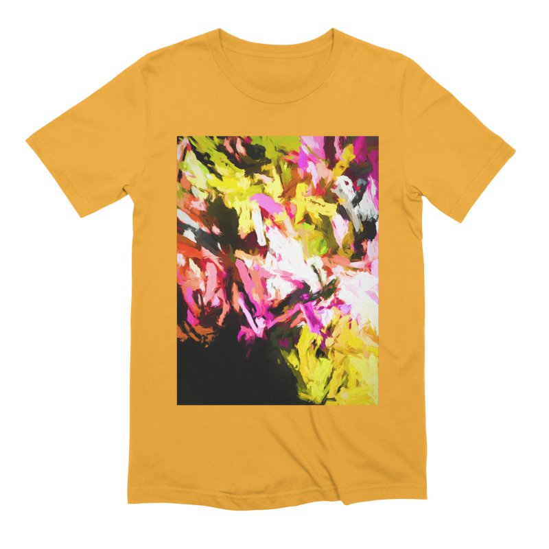 Pink Triangle in a Canola Field Men's Extra Soft T-Shirt by jackievano's Artist Shop