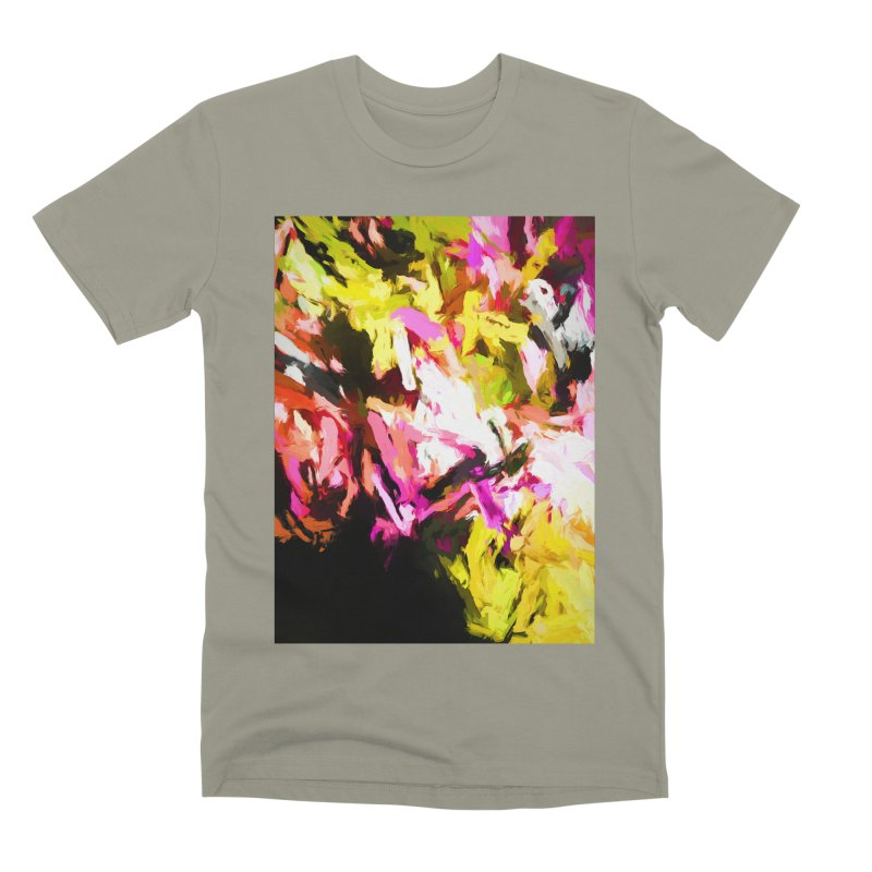 Pink Triangle in a Canola Field Men's Premium T-Shirt by jackievano's Artist Shop