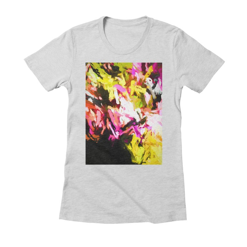 Pink Triangle in a Canola Field Women's Fitted T-Shirt by jackievano's Artist Shop