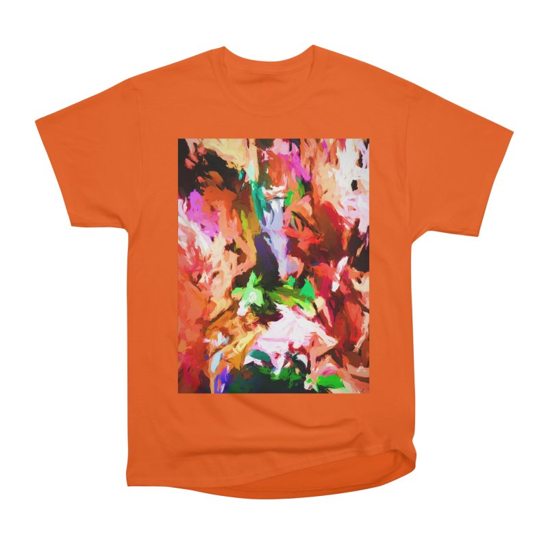 Barely Purple in an Orange Cacophony Women's Heavyweight Unisex T-Shirt by jackievano's Artist Shop