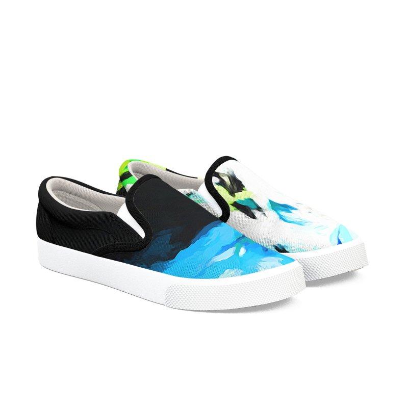 Water Drop Tsunami Slam Women's Slip-On Shoes by jackievano's Artist Shop