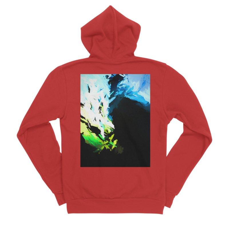 Water Drop Tsunami Slam Men's Sponge Fleece Zip-Up Hoody by jackievano's Artist Shop