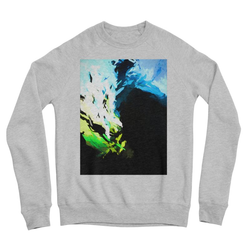 Water Drop Tsunami Slam Men's Sponge Fleece Sweatshirt by jackievano's Artist Shop