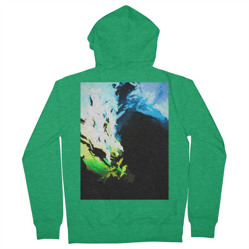 Water Drop Tsunami Slam Men's French Terry Zip-Up Hoody by jackievano's Artist Shop