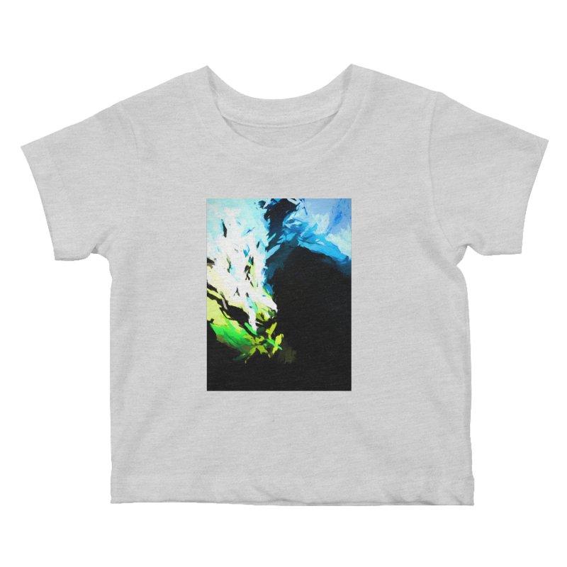 Water Drop Tsunami Slam Kids Baby T-Shirt by jackievano's Artist Shop